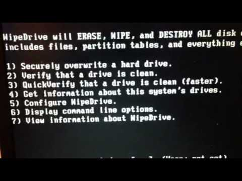 Using wipe drive pro v3