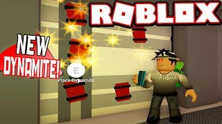 FIRST TIME USING NEW DYNAMITE! *BANK ROBBERY UPDATE* (Roblox Jailbreak)