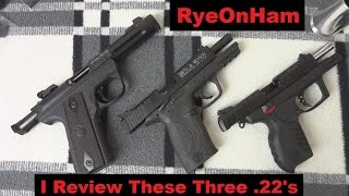 5. Ruger SR22, 22/45 + S&W M&P 22 Compact 3-Way Review