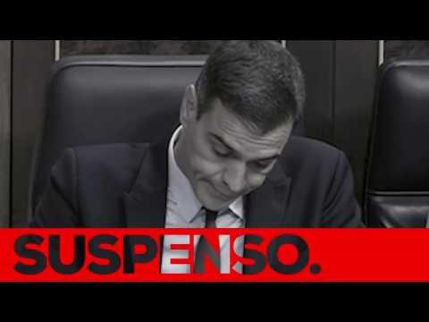 Pedro Sánchez está suspenso.