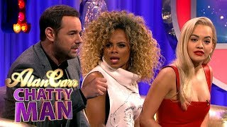 Video Danny Dyer Tells Fleur East And Rita Ora How To Handle Fans | Alan Carr Chatty Man MP3, 3GP, MP4, WEBM, AVI, FLV Agustus 2018