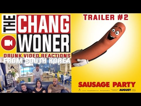 SAUSAGE PARTY - Official Red Band Trailer #2 (HD) Drunk Reaction and Review
