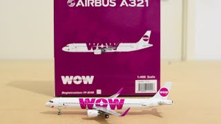 Video Phoenix 1:400 WOW Air Airbus A321-200(WL) Unboxing and Review MP3, 3GP, MP4, WEBM, AVI, FLV Juni 2018