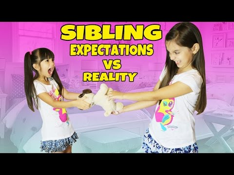 EXPECTATIONS vs REALITY of Having a Sibling | Emily and Evelyn