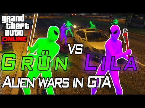 ALIEN GANG ! Green vs Purple | Gta 5 Online