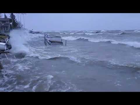 Saginaw Bay encroaches on homes