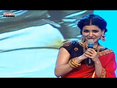 Samantha Cute Speech @ S/o Satyamurthy Audio Launch Live    Allu Arjun, Trivikram