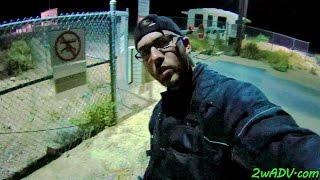 AREA 51 CONFRONTING DANGEROUS CAMO-DUDES @ BACK GATE @ NIGHT!