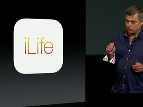 ilife - http://cnet.co/17JIS2X Apple's Eddy Cue shows off revamped versions of the company's iLife suite. iPhoto, iMovie, and GarageBand are all getting new looks, i...