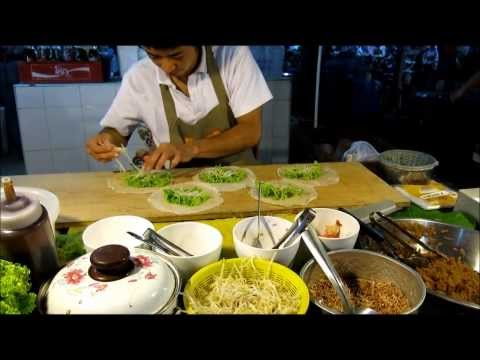 2014 PHUKET THAI STREET FOOD MARKET  ENJOY MAKING FRESH NEM A MINUTE
