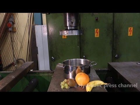 (Hydraulic Press Channel) Hydraulic press kitchen: Fruit sorbet