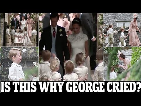 why Prince George cried, kicked up a fuss at Pippa's wedding after Kate appeared to tell him off (видео)