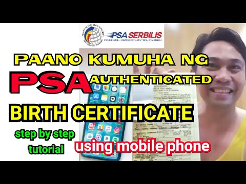 PAANO KUMUHA NG BIRTH CERTIFICATE ONLINE | PSA/NSO