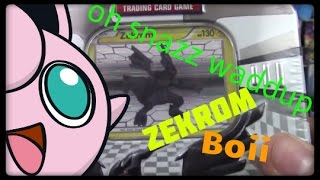 Pokemon Cards! Opening a Zekrom New Legends Tin! by Master Jigglypuff and Friends