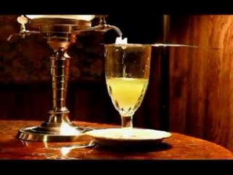 Absinthe - A proper way to prepare your absinthe with a fountain. NEVER use any flame or fire with absinthe. Just slow, steady cold water and you're set. Enjoy.
