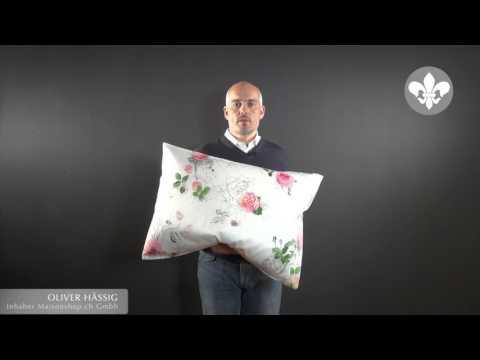 Fischbacher Mon Amour, Satin Blumenbettwäsche