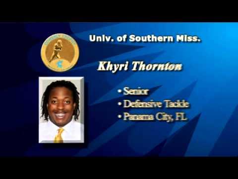 Khyri Thornton - C Spire Conerly Trophy Finalist video.