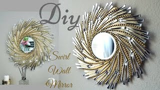 Diy Swirl Mirror Wall Decor| Wall Decorating ideas!