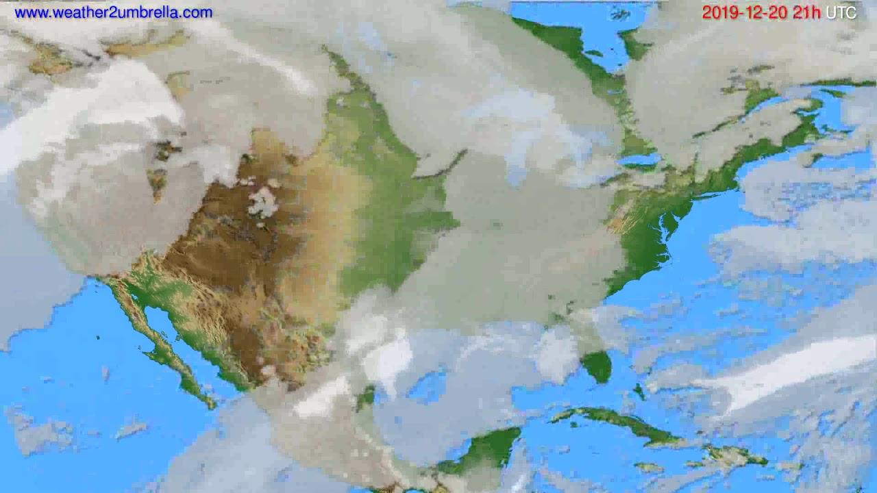 Cloud forecast USA & Canada // modelrun: 12h UTC 2019-12-19