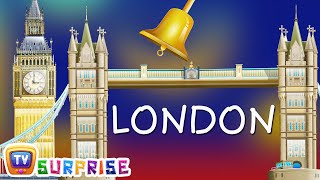 ChuChu TV Surprise Eggs Nursery Rhymes Toys  Wheels on the Bus  Learn Colours in London City Tour