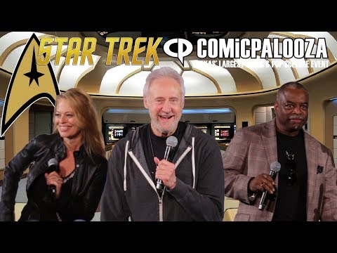 Brent Spiner, LeVar Burton and Jeri Ryan -  Star Trek Comicpalooza Panel