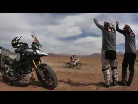 Givi at the Dakar 2015 in Chile to support the HRC rider Jeremias on the Honda CRF450Rallye