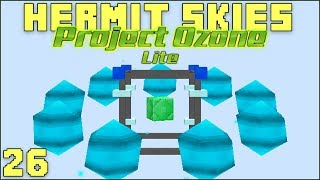 Hermit Skies 26 Fusion Crafting Begins! (Project Ozone Lite Skyblock Modded Minecraft)