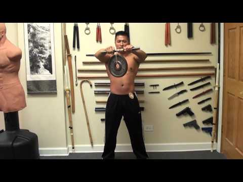 Ultimate Forearm Training - Wrist Roller - Arms out - Sifu Lee 10 lbs 2 Reps