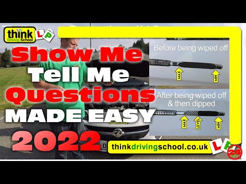 The New Show Me Tell Questions for 2018 Tests Onwards  For The UK Driving Test