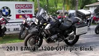 7. Pre-Owned 2011 BMW R 1200 GS Triple Black at Euro Cycles of Tampa Bay