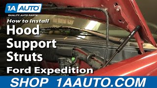 How To Install Replace Hood Support Struts Ford F150 Expedition 97-03 1AAuto.com