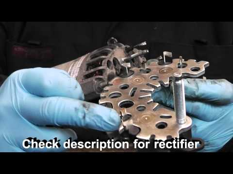 VAUXHALL / OPEL Vectra / SAAB Alternator diagnose and repair,Denso.Rectifier replacement. PART 1