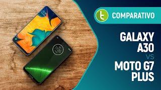 Galaxy A30 vs Moto G7 Plus: quem vence essa equilibrada disputa? | Comparativo