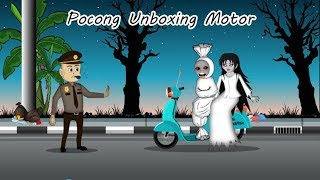 Download Video Pocong Kena Tilang Ngamuk Unboxing Motor - Kartun hantu Lucu MP3 3GP MP4