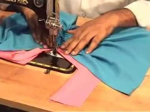 lace or knot pattern and gathers mpg blouse cutting method