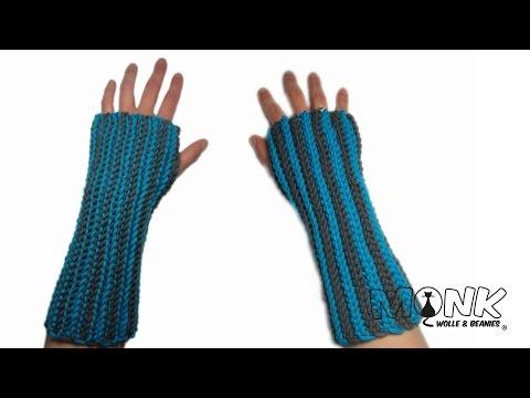 Ribbed Handstulpen / Pulswärmer - Bosnisch häkeln - ribbed wrist warmers (video with english notes)