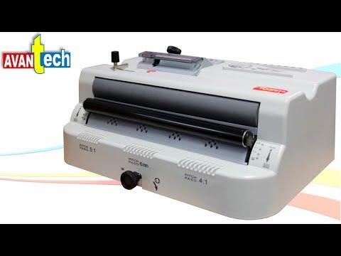 insertadora - Maquina insertadora de arillos espirales Funciona perfectamente para espirales metálicos y plásticos Para los pasos: 3:1