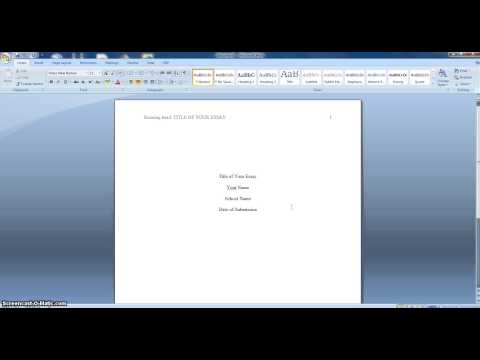Apa format short paper 109218