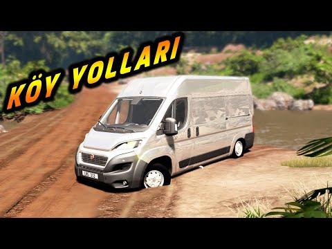 Fiat Ducato OFF-ROAD VE KÖY YOLLARINA DALDIM // BeamNG.drive // Diy Arduino steering wheel set