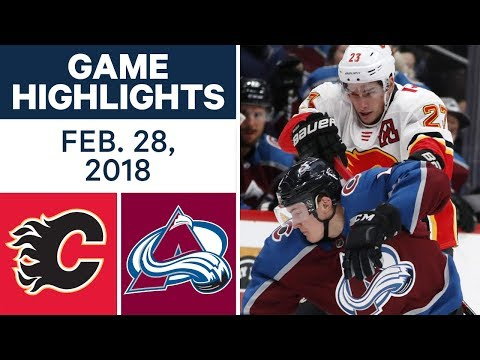 Video: NHL Game Highlights | Flames vs. Avalanche - Feb. 28, 2018