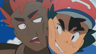 A Heated Rivalry: Ash & Kiawe   Pokémon the Series: Sun & Moon—Ultra Legends   Official Clip by The Official Pokémon Channel