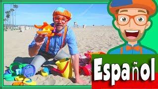 Blippi Español en La Playa con Juguetes de Arena | Aprende Colores para Niños