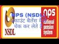 NPS (NSDL) account balance check