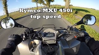 9. Kymco MXU 450i 100 km/h top speed