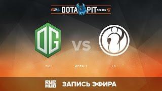 OG vs Invictus Gaming, Dota Pit S5 LAN, Верхняя сетка, Игра 1 [Adekvat, Maelstorm]