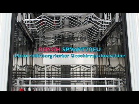 Bosch Geschirrspüler Vollintegriert SPV69T70EU 45cm -  Präsentation