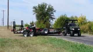 9. LANDmaster LM500 Pulls Heavy Duty Trailer with Mower