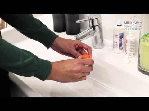 Formstabile Kontaktlinsen reinigen