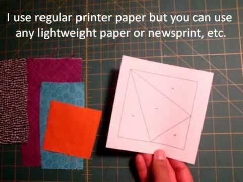 Engelse uitleg Paperpiecing