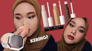 FENTY BEAUTY CONCEALER AND LOOSE POWDER REVIEW